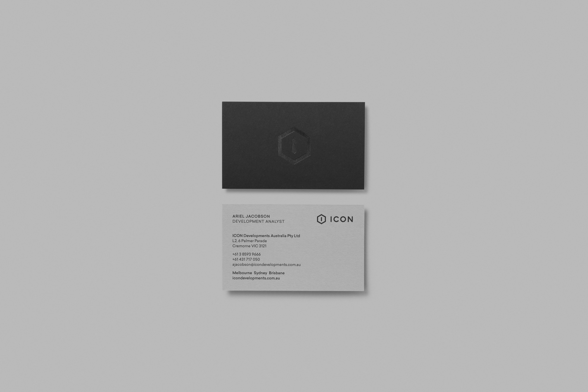 ICON Developments - Business Card